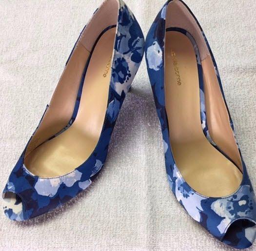Liz Claiborne Women's Clea Peep-Toe Blue Floral Pumps Size 7.5 M #LizClaiborne #PumpsClassics