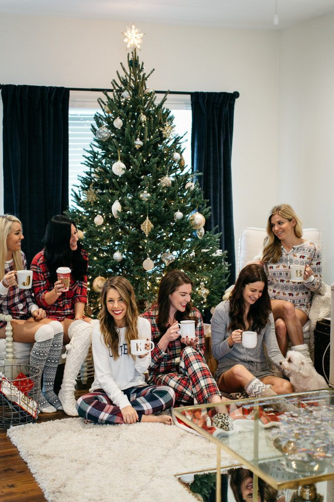 lynlee poston gal about town | Christmas Pajama Party | Girls Night Holiday Pajama Party Ideas