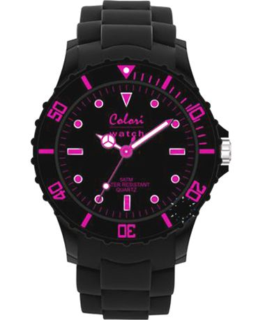 COLORI Neon Nights Black Silicone Strap Τιμή: 34€ http://www.oroloi.gr/product_info.php?products_id=34910