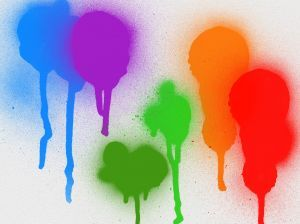 Washable spray paint - 1/4 cup of cornstarch with 1 cup warm water and enough food colouring to get the shade you want (6 to 10 drops). Mix in a large container then pour into spray bottle.