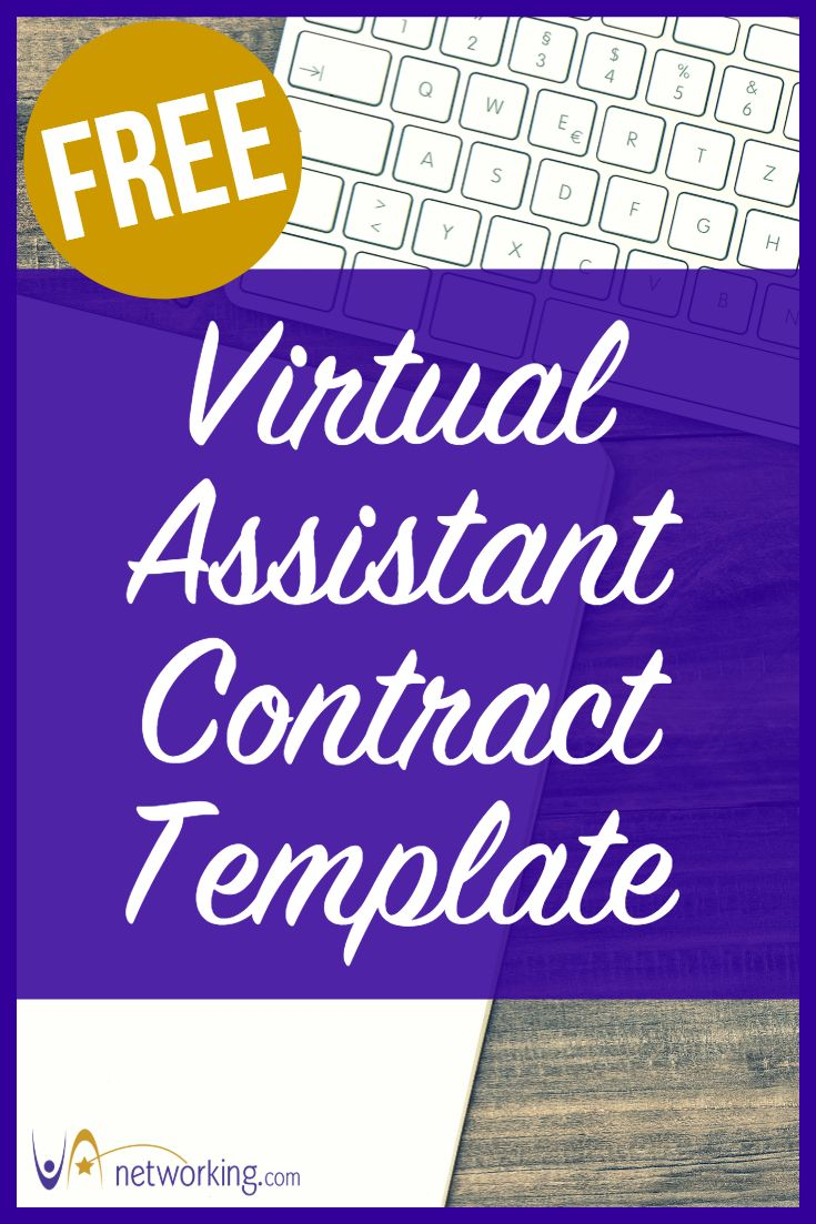 Free Virtual Assistant Contract Template Virtual Assistant Virtual Assistant Training Virtual Assistant Business