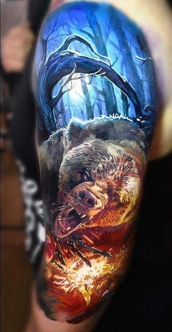 Oberarm Bär Tattoo   – Tattoos – #Bär #Oberarm #Tattoo #Tattoos