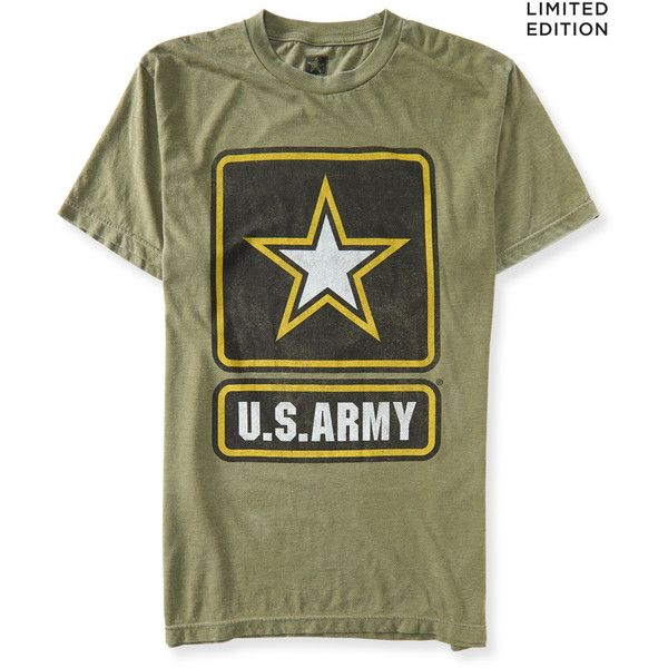 Aeropostale United States Army Graphic T ($18) ❤ liked on Polyvore featuring tops, t-shirts, shirts, army, green t shirt, graphic tees, aeropostale t shirts, green shirt and graphic design t shirts