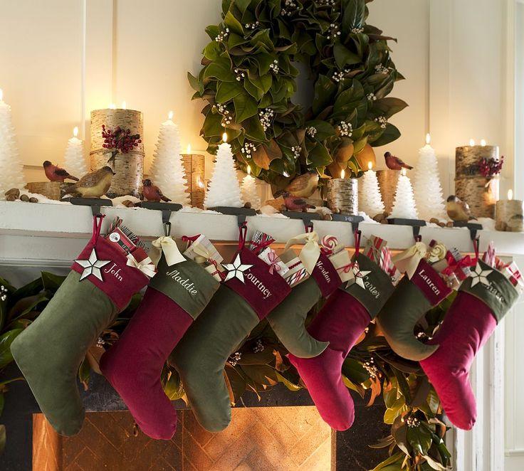 : Fireplaces Mantels, Christmas Decor Ideas, Mantel Decor, Christmas Holidays, Candles, Rustic Style, Christmas Stockings, Holidays Decor, Christmas Mantels