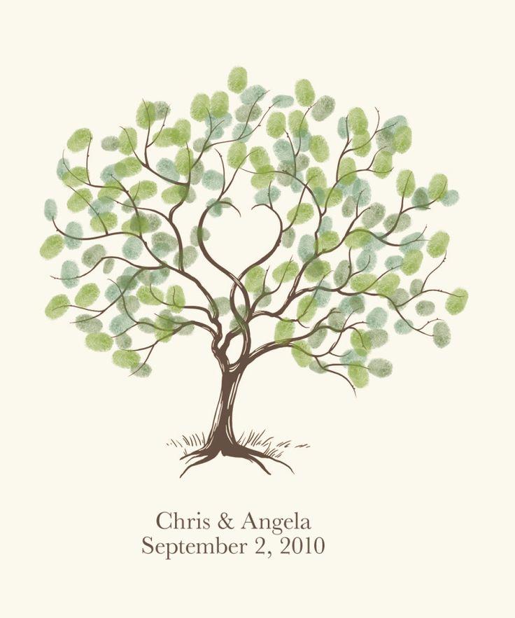 Custom Wedding Accessories Savannah Live Oak Thumbprint: Die 25+ Besten Daumenabdruck Baum Hochzeit Ideen Auf