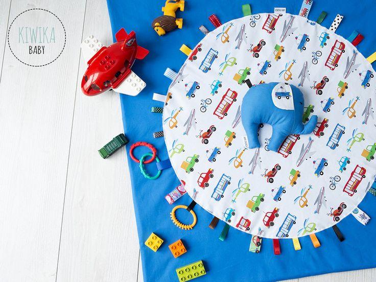 KiwikaBaby - MATA EDUKACYJNA Z POJAZDAMI - KiwikaBaby - Kocyki dla niemowląt