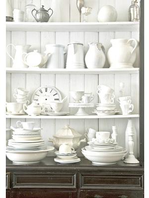 All white china - nice!