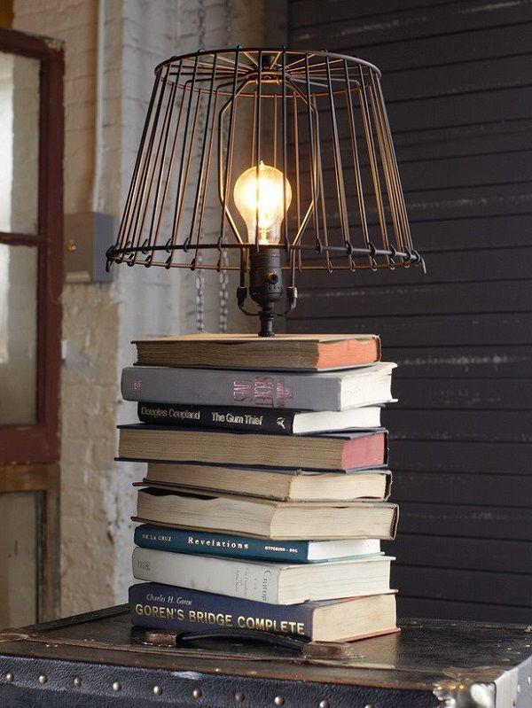 20 ideas para decorar con libros viejos llenas de encanto.   #decoración #creatividad #libros