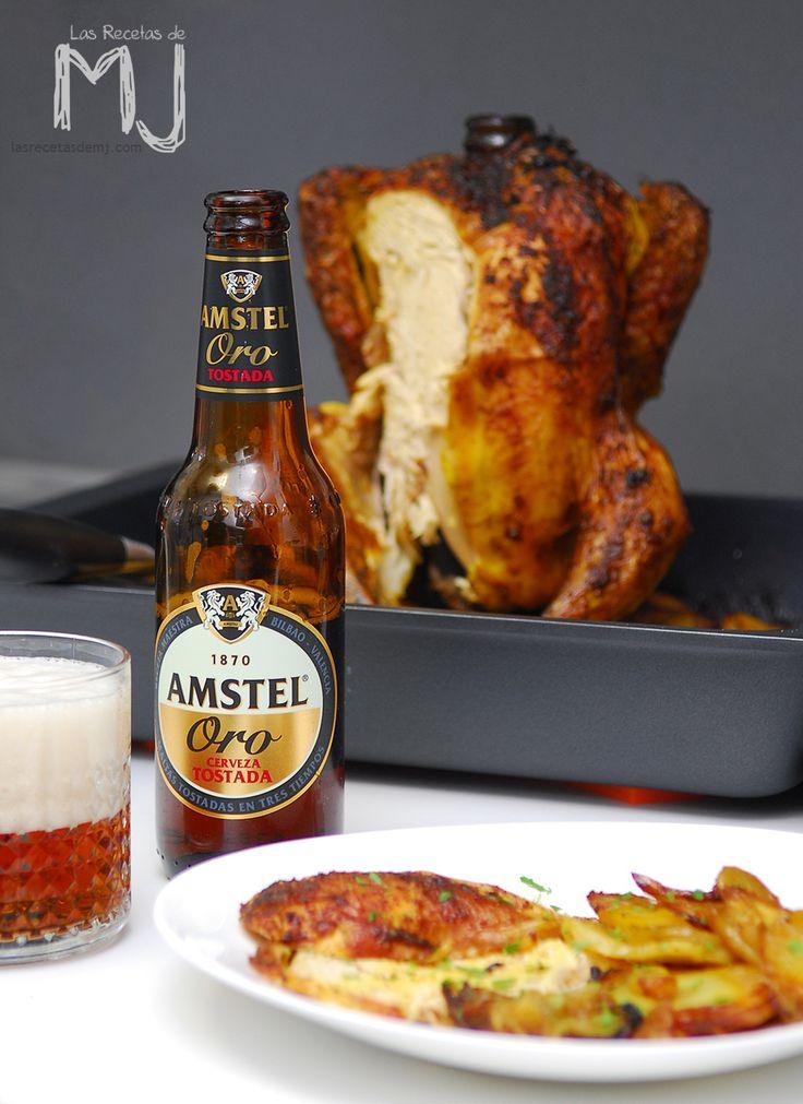 Tengo varias recetas de pollo al horno publicadas: con tomillo y romero ; al estilo Jamie Oliver ; al estilo indio ; relleno ; en kebab ...