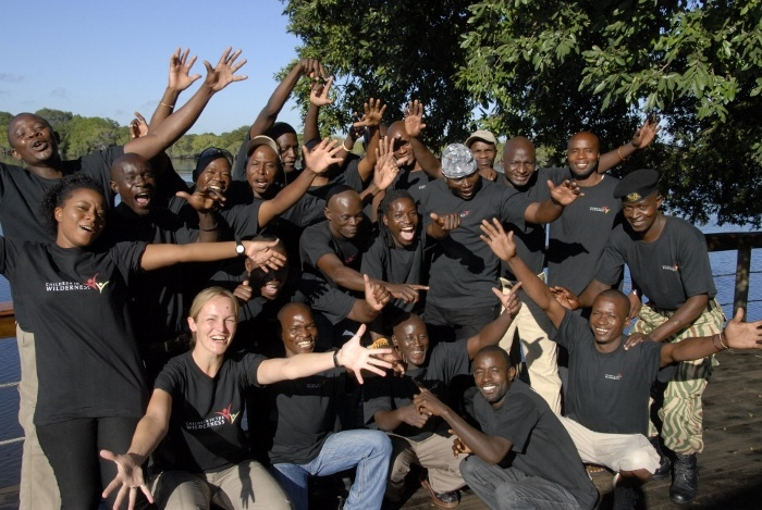 Staff welcome the young campers with open arms - at Lufupa CITW Camp, Zambia