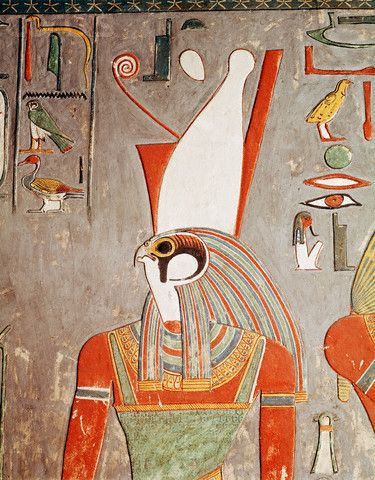 121 best ancient egyptian gods afterlife magic jewelry for Egyptian mural paintings