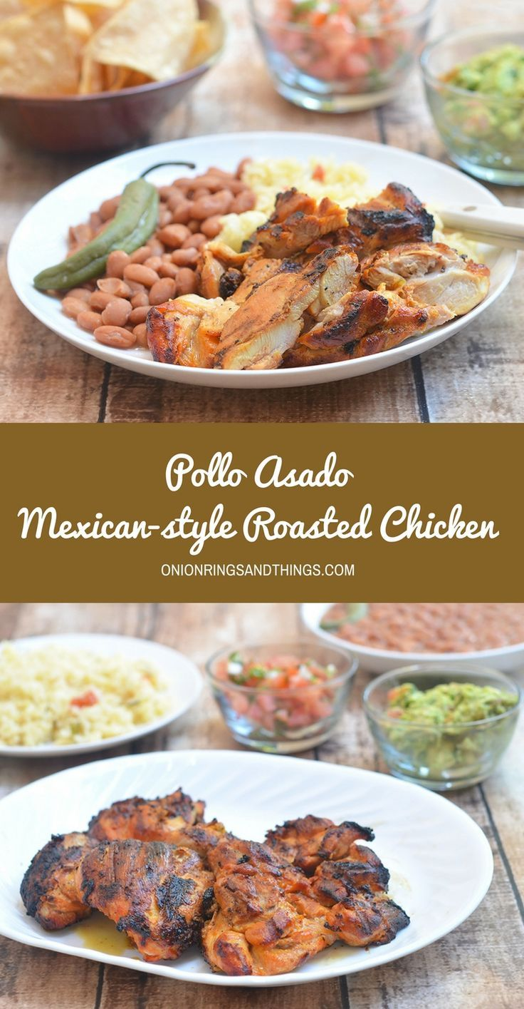 Marinated in citrus juices and spices, Pollo Asado or Mexican-style roasted chicken is amazing fresh off the grill but also makes great leftovers. Delicious served with rice and beans, this roasted chicken can also be used for tacos, burritos, and salads.