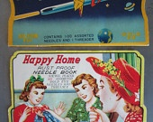 Vintage Needle Books Happy Home and Rocket Made in Japan