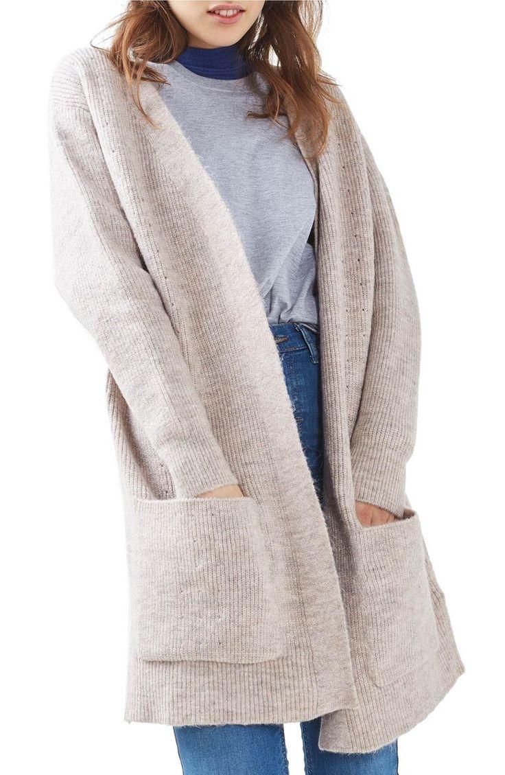 Main Image - Topshop Oversize Pocket Cardigan