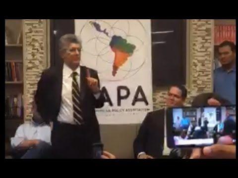 Henry Ramos Allup en la Universidad de Georgetown Washington, DC.(Avances OEA) Vía @MasTrinado @hramosallup