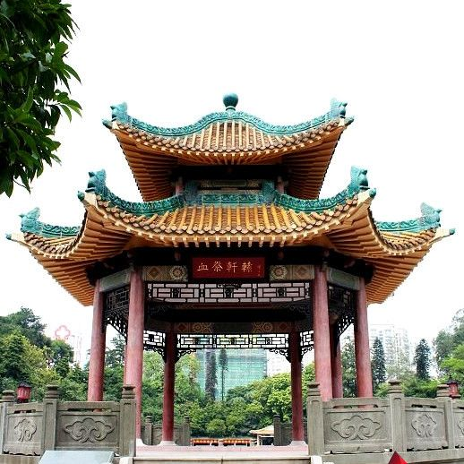 Chinese Style Gazebo With Ceramic Roof Tiles