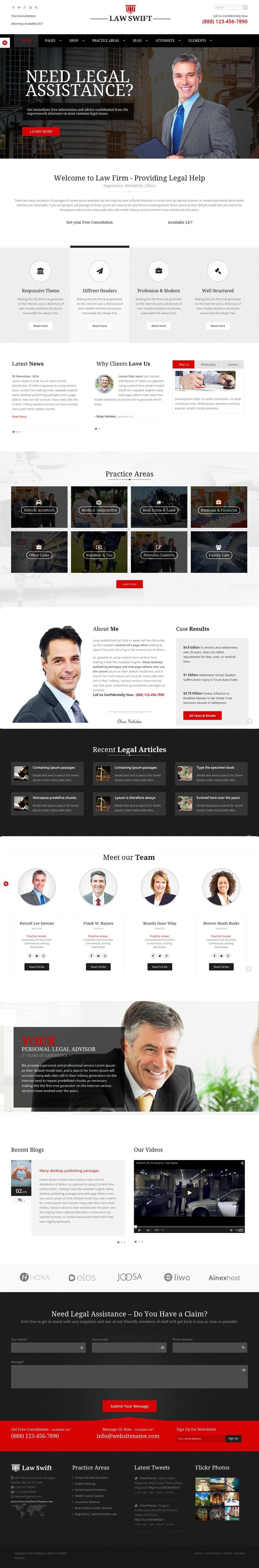 LawSwift is a clean Responsive #WordPress Theme especially for Legal Firm, Law Firm, Law Advisers, Legal Officers, Barristers, Consultancy, Finance, Solicitor, Advocates, Counsels, Accountant, Advocate, Attorney, Barrister, Business, Consultant, Justice, Law Business, #Lawyer, Legal Advisers #website.