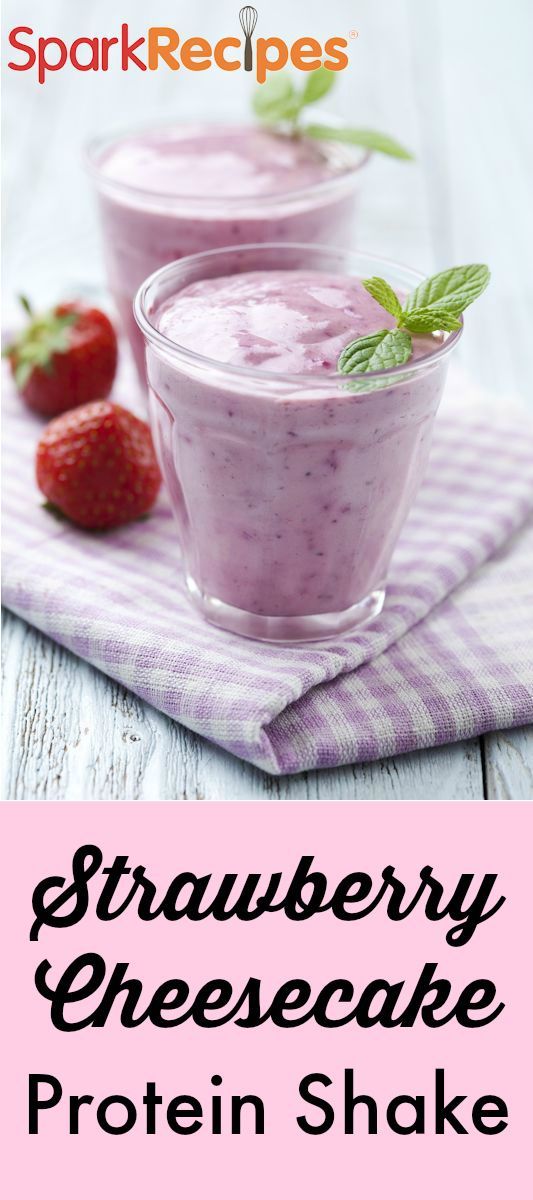 A filling breakfast or post-workout recovery drink, this protein-packed smoothie tastes just like strawberry cheesecake! You can also substitute any other fruit for the strawberries, or add half the strawberries and half a different kind of fruit. (We love the classic strawberry banana combo!) via @SparkPeople