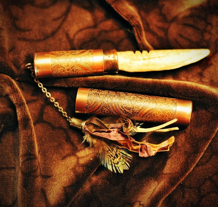 Leslie Marsh - copper and Fauxbone created in Richard Salley's Etched Copper Letter Opener class