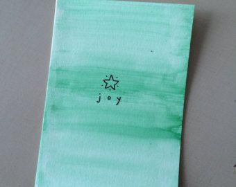 Minimalist Christmas Card - Joy