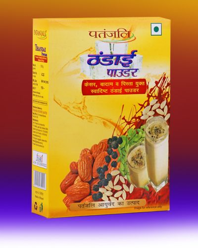 #Thandai Powder. A product of Patanjali Ayurved. Thandai Powder with Kesar, Badam & Pista. THANDAI POWDER 500gm price Rs.190