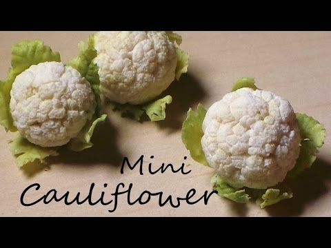 Coliflores en miniatura - EASY Miniature Cauliflower. Polymer Clay Tutorial. YouTube
