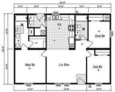simple small house floor plans simple one story house plans 1 storey home floor