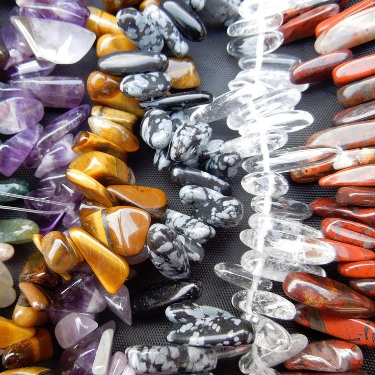 Large Semi Precious Crystal Gemstone Freeform Jewellery Making Smooth Chip Beads