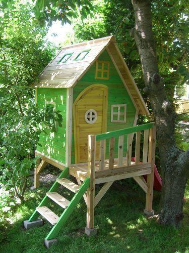 13 best stelzenhaus images on pinterest treehouse backyard and children playground. Black Bedroom Furniture Sets. Home Design Ideas