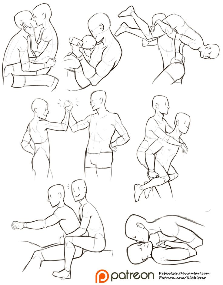 Interacting Characters reference sheet pose ref fma
