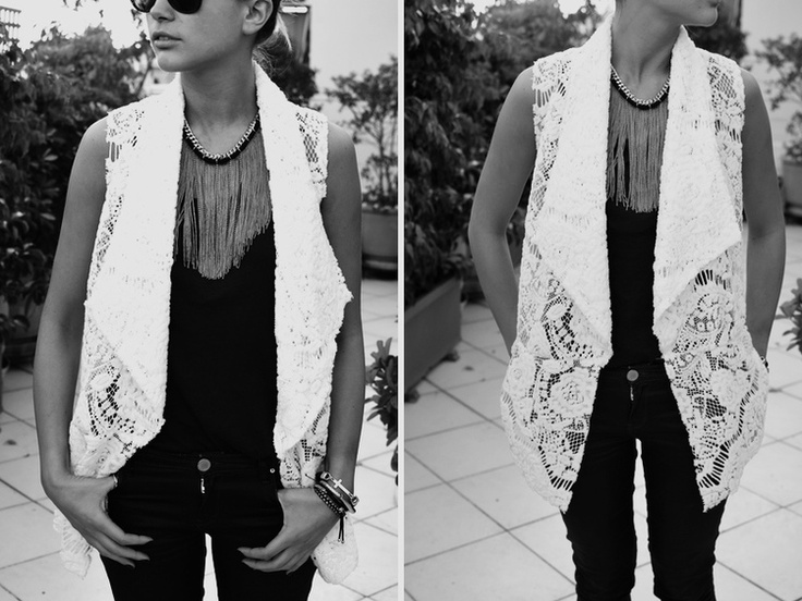 Lace Vest  by https://www.facebook.com/NizalFashion  Thank u Nef!!!! https://www.facebook.com/twinfashion?group_id=0