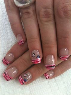 French Hearts by nailtechtish - Nail Art Gallery nailartgallery.nailsmag.com by Nails Magazine www.nailsmag.com #nailart