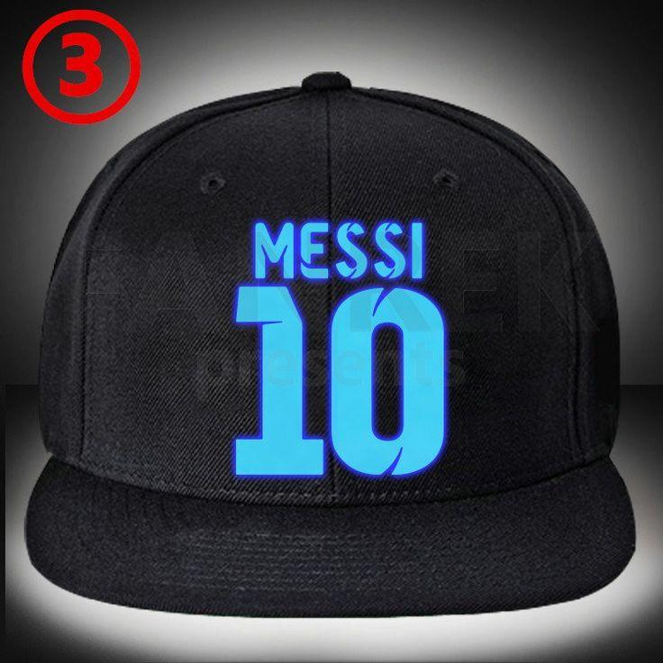 Messi 10 Glow Hip Hop Baseball Hat