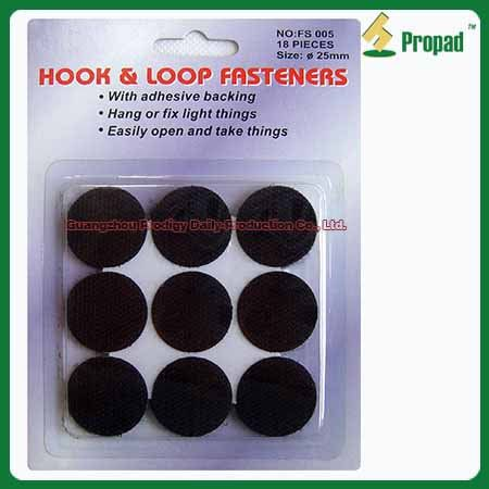 Hook and Loop Velcro Tape FS005-2 #Hook and Loop Velcro Tape /Hook & Loop Fastening Tape/Adhesive Hook and Loop  Hook and Loop Velcro Tape can use indoor and outdoor to fix or fasten thing. Such as use on tools, photo frame, rain coat, clothes, handbag, window curtains, outdoor tent, mosquito net, small appliance accessory, wires, books, suitcase, shoes, toy, ect. Different colors, sizes and materials are available. Small/ Middle /Big hook for choosing.