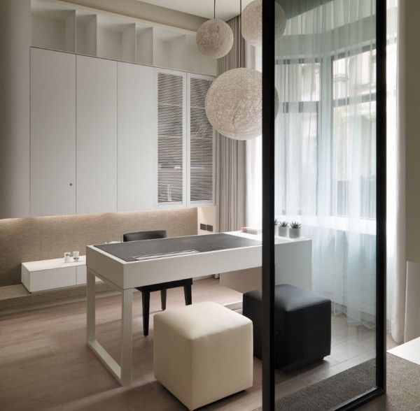 Top A Multi Level Contemporary Apartment by WCH Studio Idea: Minimalist Home Office Room Multi Level Contemporary Apartment ~ anahitafurniture.com Apartment Inspiration