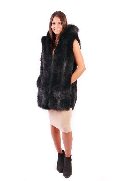 Vests Long Coyote Vest Black - Lindo F