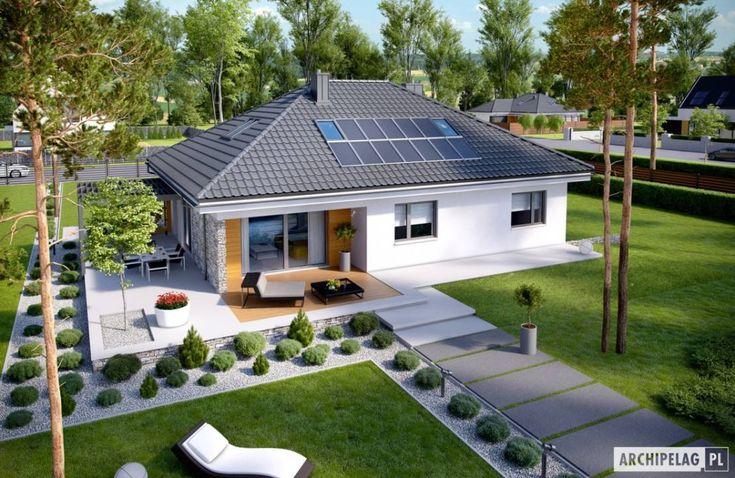 Projekt domu Astrid (mała) G2 : 모던스타일 주택 by Pracownia Projektowa ARCHIPELAG