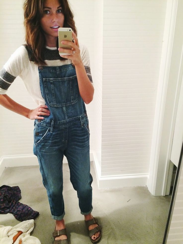 xomrsmeasom xo mrs measom denim overalls Birkenstocks baseball tee Abercrombie Abercrombie and fit a&f boho casual summer outfit back to school outfit modest outfit Witty Gritty