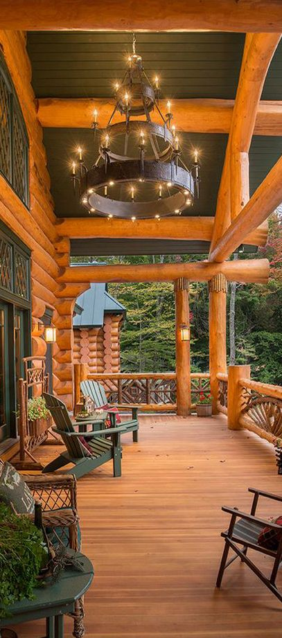 mens summer fashion tips Gorgeous Porch   Sitka Log Homes
