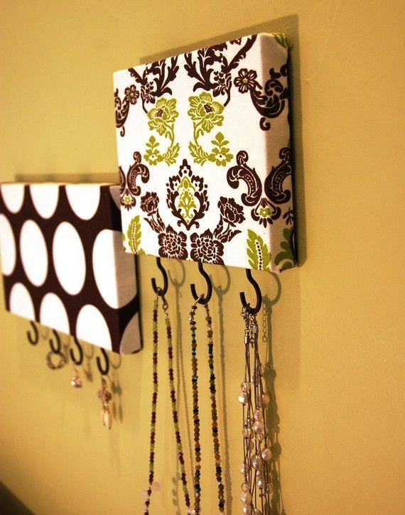 Necklace hanger-but could use it for keys or scarves possibly.: Craft, Idea, Diy Key Hanger, Jewelry Accessories, Necklace Hanger, Key Hangers, Necklace Holder, Jewelry Holder