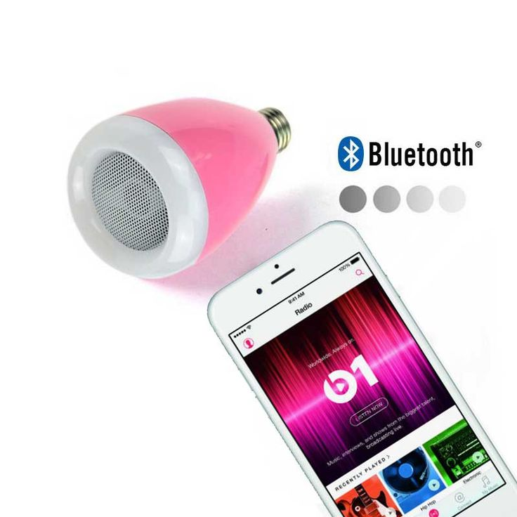 2017 New Classic Wireless Bluetooth AUdio Speakers E27 LED RGB Light Music Bulb Lamp Color Changing via remote Control Pink BB02 //Price: $19.95 & FREE Shipping //     #hashtag1