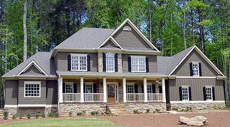 Our favorite feature of house plan 9258VS? The bonus room with two points of access.