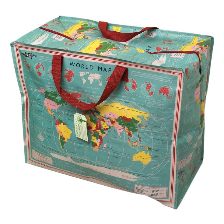 155 best world images on pinterest travel luggage packing and recycled vintage world map jumbo storage bag dotcomgiftshop gumiabroncs Images