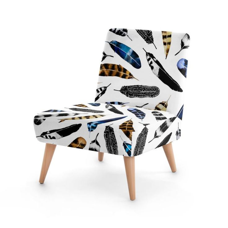 Bohemian Free Feather Occasional Chair #feathers #bohemian #designer #pattern #furniture #design #fashion #home #hometrends #chair