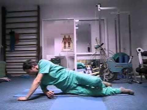 Боль в спине - обучающие упражнения - YouTube