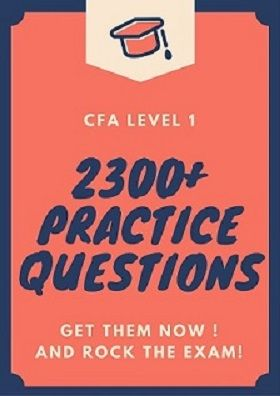 CFA Level 1 exam practice questions available here. Practice away all you want and ensure you are well prepared for the exam !!