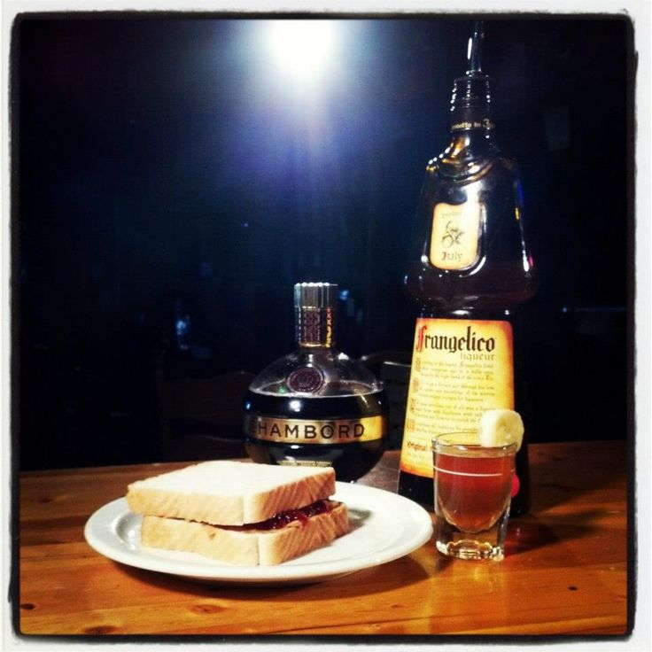 The Peanut Butter and Jelly Shot! (with Frangelico) #shots #drinkrecipes #bartending For more visit www.bartendingschool4free.com