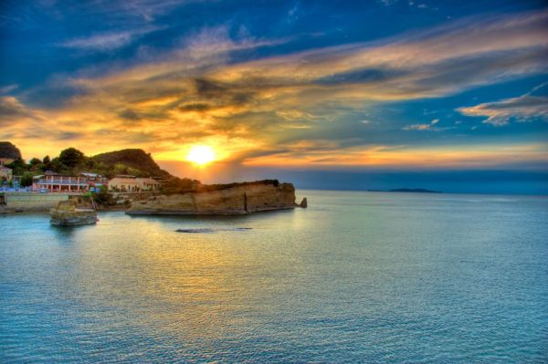 Sunset over Corfu island, GreeceAthens Greece, Buckets Lists, Sunsets, Sunris, Beautiful Sunset, Corfu Greece, Places, Greek Islands, Greek Isle