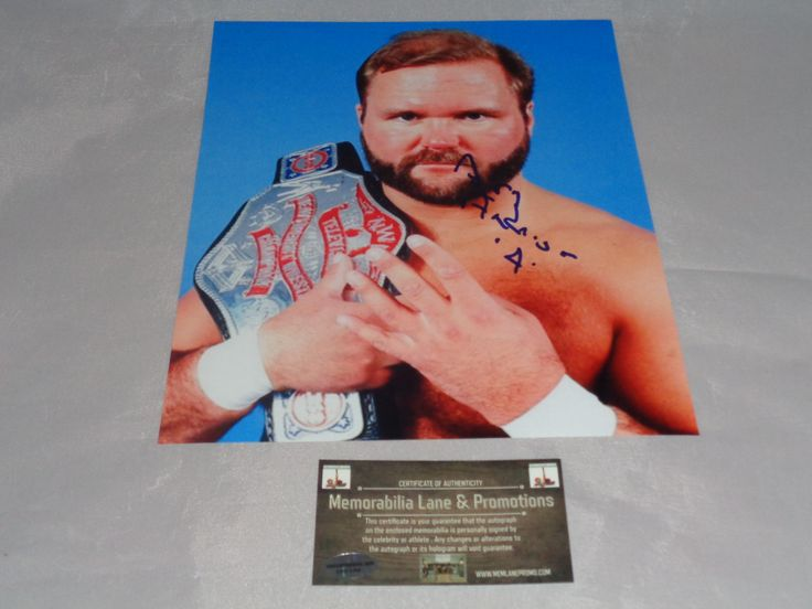 Arn Anderson WWE Autograph 8x10 COA Memorabilia Lane & Promotions