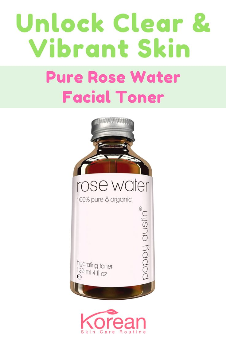 Poppy Austin's Pure Rose Water Facial Toner is the best facial toner for oily skin when following the Korean Skin Care Routine. Read our full review of the product in the link provided.